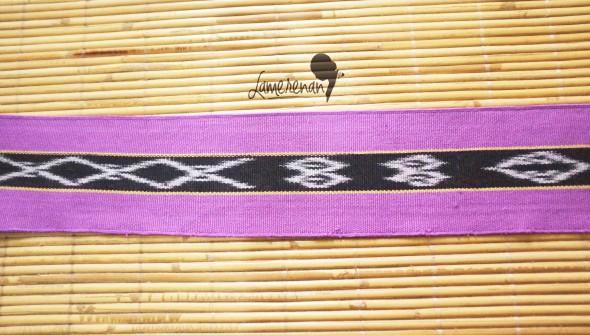 Tanimbar Mini shawl - Purple 115 cm x 8 cm