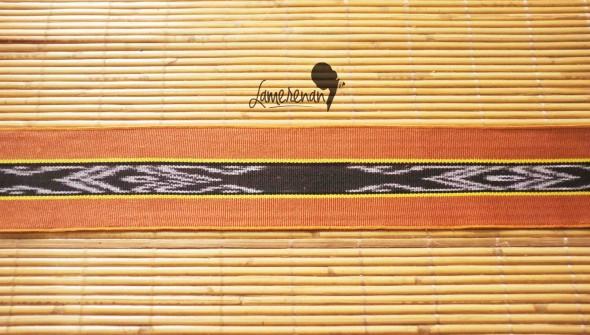 Tanimbar Mini shawl - Brown 02 115 cm x 8 cm