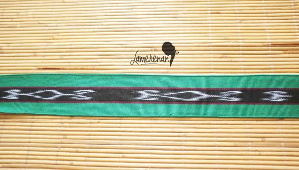 Tanimbar Mini shawl - Green 01 115 cm x  8 cm